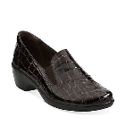 Clarks May Ivy Brown Croco