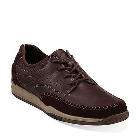 Clarks Watkins Track Brown Leather