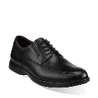 Clarks General Over Black Leather