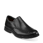 Clarks General Slip Black Leather