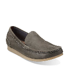 Clarks Brandt Grey Leather