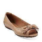Clarks Aldea Joy Tan Leather