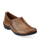 Clarks Kessa Grace Tan Leather