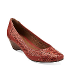 Clarks Ryla Castle Red Leather