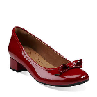 Clarks Charmed Bow Red