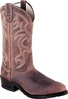 Double H Boot 12 Inch ST AG7 Work Western Brown