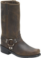 Double H Boot 12 Inch Harness Tan Crazyhorse
