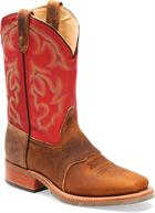 Double H Boot Wide Square Work Roper Old Town Light Brown/Red