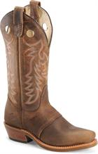 "Double H Boot 12"" Domestic Narrow Square Toe Ice Buckaroo Brown"
