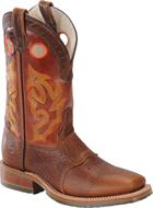 Double H Boot Domestic Wide Square ST Roper Peanut Bison