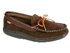 L B Evans Atlin Slipper in Chocolate/Terry