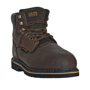 "Dark Brown McRae 6"" Safety Toe Internal Metgaurd"