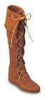 Minnetonka Front Lace Knee Hi Boot Brown