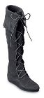 Minnetonka Front Lace Knee Hi Boot Black