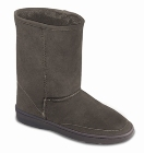 Minnetonka Short Sheepskin Pug Boot Grey