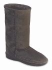 Minnetonka Tall Sheepskin Pug Boot Grey