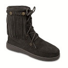 Minnetonka Sheepskin Tramper Boot Black