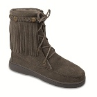 Minnetonka Sheepskin Tramper Boot Grey