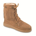 Minnetonka Sheepskin Tramper Boot Tan