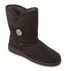 Minnetonka Side Button Classic Pug Boot Black