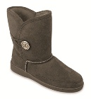 Minnetonka Side Button Classic Pug Boot Grey