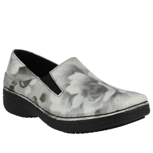 Gray Floral Patent Spring Step Pro Ferrara Wide