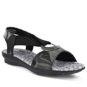 Black Multi Spring Step Crespo