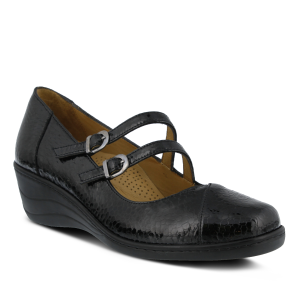 Black Patent Spring Step Thorny