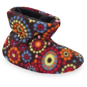 Chocolate Dots Acorn Easy Bootie