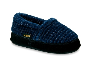 Blue Checked Acorn Tex Moc