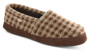 Brown Check Acorn Tex Moc