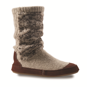 Tribal Tan Knit Acorn Slouch Boot