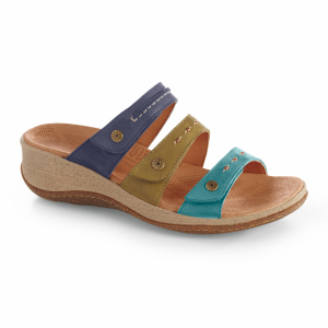 Navy Sea Acorn Vista Wedge 3 Strap