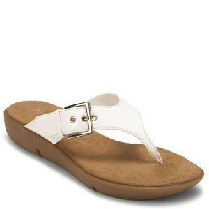 White Leather Aerosoles Tex Mex