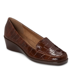 Mid Brown Croco Aerosoles Final Exam