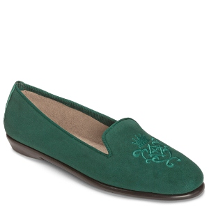 Dark Green Suede Aerosoles Betunia