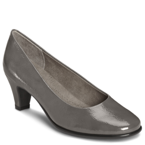 Dark Gray Patent Aerosoles Red Hot