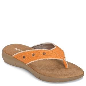 Aerosoles Wip Town : Orange Fabric - Womens Sandal