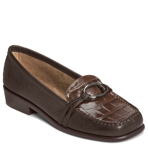 Brown Croco Aerosoles Dubious