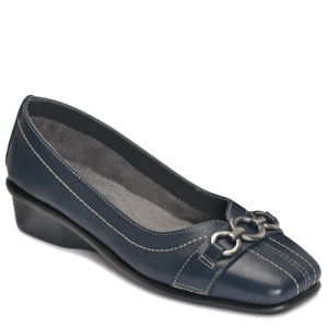 Dark Blue Leather Aerosoles Megaphone