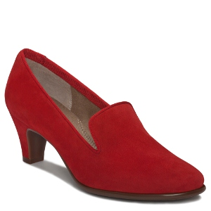 Dark Red Suede Aerosoles Red Carpet