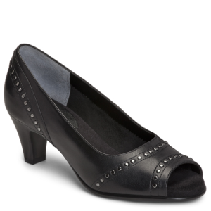 Black Leather Aerosoles Wildwood
