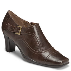 Brown Faux Leather Aerosoles Cingle Lady