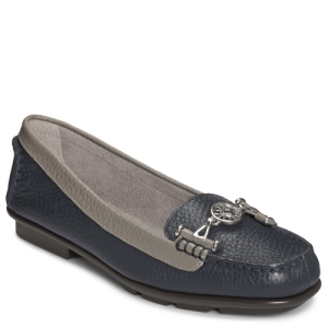 Navy Leather Aerosoles Nuwlywed