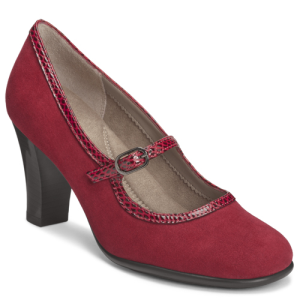 Dark Red Suede Aerosoles Sushi-Role