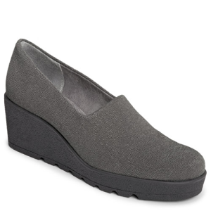 Grey Fabric Aerosoles Range Of Motion