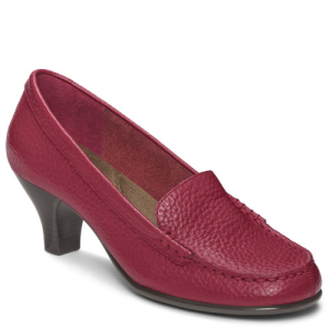 Dark Red Leather Aerosoles Wise Choice