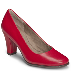 Red Leather Aerosoles Dolled Up