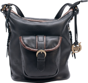 Black/ Chocolate Born Handbags Taryn Crossbody