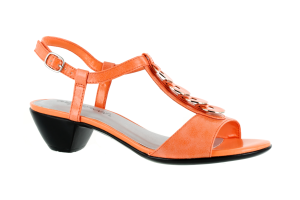 Coral Crinkle Patent Easy Street Gidget